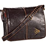 Dunlop Holdall Mens Messenger Shoulder Vintage Despatch Bag Back To School College Brown Leather Look