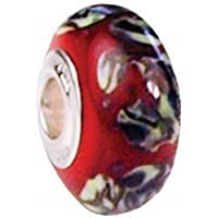 Fenton Art Glass Tapestry Bead Charm