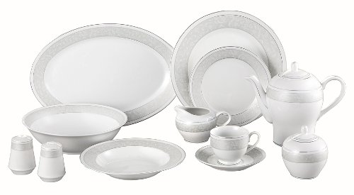Lorenzo Pearl-SL 49-Piece Dinnerware Set, Service For 8