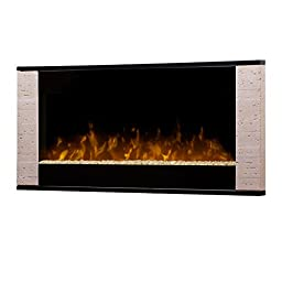 Dimplex DWF120 Contemporary Wall-Mountable Electric Fireplace, Slate and Black