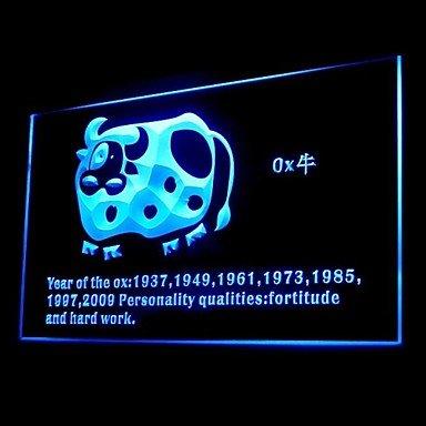 Chinese Zodiac Ox Advertising Led Light Sign