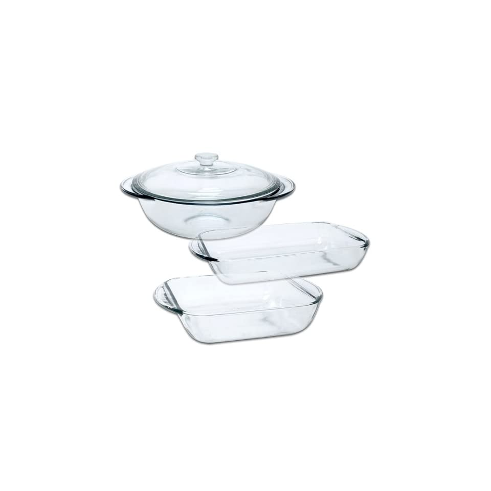 Anchor Hocking Fire King 4 Piece Glass Bakeware Set