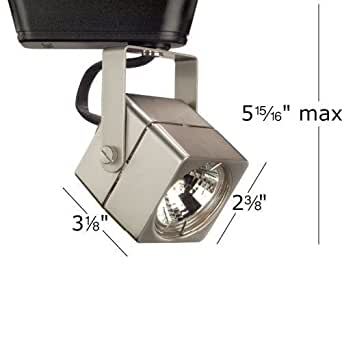 Square 1 Light Low Voltage Track Head Track Type Lightolier Series Bulb Typ