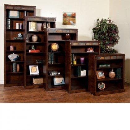 "Sunny Designs 2952DC-72 Santa Fe Height Bookcase, 72"""