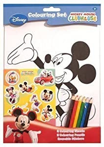 Disney Mickey Mouse Clubhouse Colouring Set: Amazon co uk