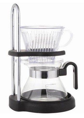 Kaffeemaschine - Handkaffeeset- Kaffeebereiter mit Glaskanne und Kunststoffilter