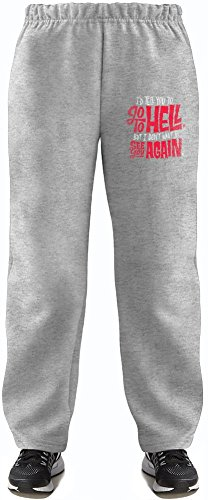 mad men Go To Hell Super Soft Kids Lightweight Jog Pants by True Fans Apparel - 80% Organic, Hypoallergenic Cotton & 20% Polyester - Casual & Sports Wear - Perfect Present 5-6 years