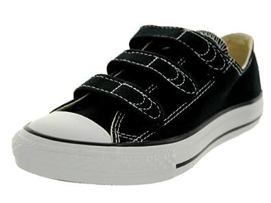 Converse Chuck Taylor All Star Lo Top Little Kids Velcro 3 Strap Black size 11