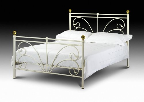 4ft6 (135cm) Double Cadiz Metal Bed Frame + Mattress