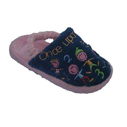 Pantofole per la ragazza in tanga gomma dietro Gioseppo rosa taille 24