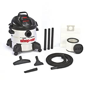 Shop-Vac 5866100 8-Gallon 5.5-Peak HP Stainless Steel Wet/Dry Vacuum