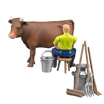 BRUDER - 62605 - Coffret figurine homme fermier avec animal et accessoires