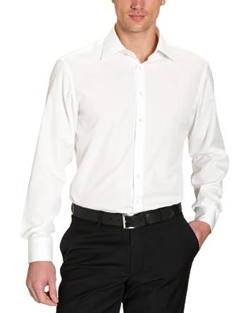 Jacques Britt Herren Businesshemd Regular Fit 20.969313 Ben EL, Gr. 45 (X2), Elfenbein (02 - creme)
