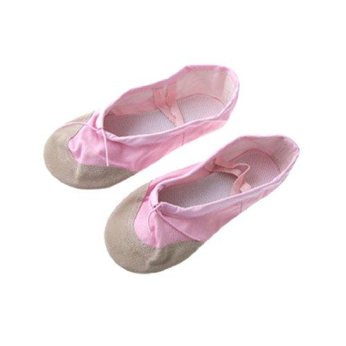 US Size 5.5 Ladies Pink Canvas Dance Dancing Ballet Flat Shoes