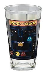 Vandor 69012 PAC-MAN 16 Ounce Laser Decal Glass Set, 2 Piece Set, Multicolored