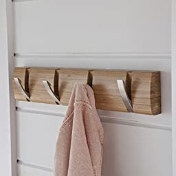 La Redoute Interieurs Bamboo 4-Hook Wall-Mounted Coat Rack Light Wood Size One Size