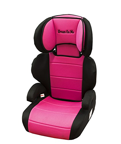 Dream On Me Deluxe Booster Car Seat, Black And Pink, Small front-1013601
