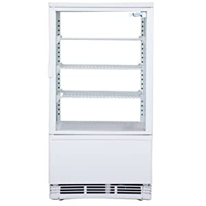 Avantco FSG-3 White Countertop Display Refrigerator with Swing Door
