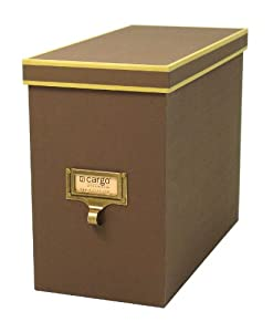 Cargo Atheneum File Box, Brown, 9-1/2 by 12 by 5-1/2-Inch