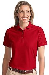 Port Authority Women's Comfortable Classic Soft Polo Shirt_Red_Medium