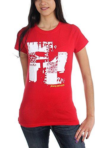 Jimmy Eat World-Clarity-Maglietta da donna rosso Large