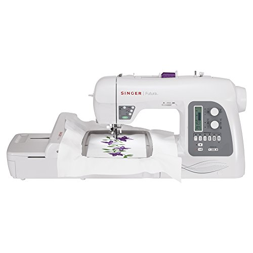 SINGER Futura XL-550 Computerized Sewing and Embroidery Machine with 18.5-by-11-Inch Multihoop Capability including 2 Hoops, 215 Stitches, 125 Embroidery Designs, 20 Monogramming Fonts (Singer Sewing Machine Girls compare prices)