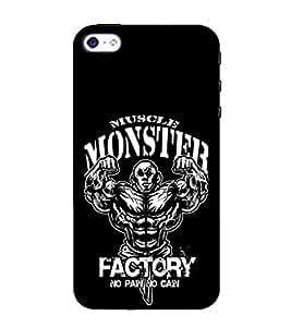 EPICCASE Muscle monster factory Mobile Back Case Cover For Apple iPhone 5s (Designer Case)
