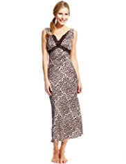 Per Una Satin Animal Print Nightdress