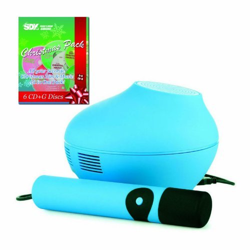 Singing Machine Smc4Tv Blue Karaoke System & Christmas Songs Pack