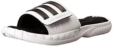 adidas Performance Men's Superstar 3G Slide Sandal, White/Black 1/Metallic Silver, 6 M US