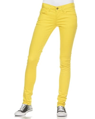 Monkee Genes Pantalone 5 Tasche Unisex [Giallo]