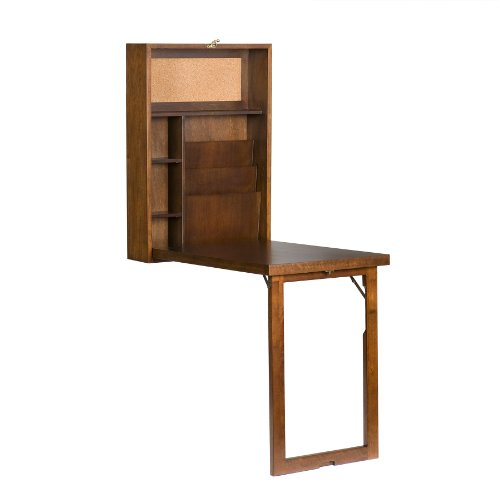 Folding Wall Mounted Office Computer Desk Wall Unit For