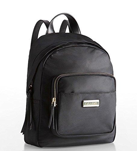Calvin Klein Womens Skylar Nylon City Backpack Bag Black