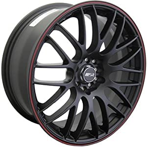MSR 45 17 Black Red Wheel / Rim 5×100 & 5×4.5 with a 42mm Offset and a 72.64 Hub Bore. Partnumber 4528737