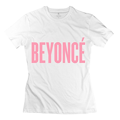 IDIY Women's BEYONCE Pink Style Short Sleeve T Shirt X-Large White