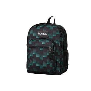 Jansport Supermax Backpack - Black/glorious Green Dash