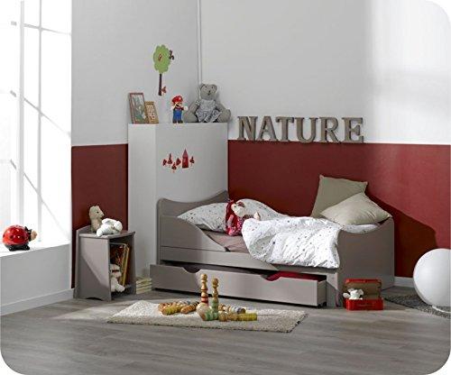 Paket : Mitwachsendes Kinderbett Ivoo Lein mit Matratze und Schublade online bestellen