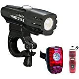 Cygolite Metro 550 USB Rechargeable Headlight with Cygolite Hotshot 2-Watt USB Rechargeable Tail Light and 24 Oz. Water Bottle
