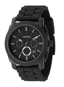Fossil - FS4487 - Montre Homme - Quartz Analogique - Chronographe - Bracelet en Caoutchouc Noir