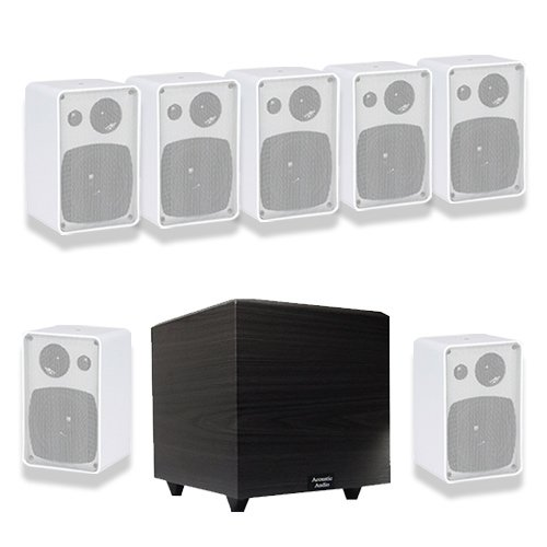 Acoustic Audio AW43W 7.1 Home Theater Surround Speaker System w/8