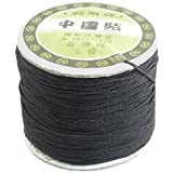 150M 1mm Chinese Knotting Nylon Rattail Beading Thread String Rat Tail Cord Black