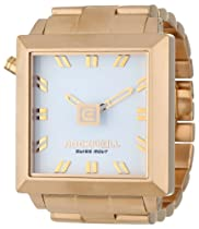 Rockwell Time Unisex FF105 50mm2 Gold-Plated Stainless Steel with White Dial Watch