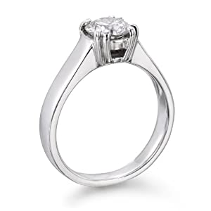 Solitaire Diamond Ring 1 ct, J Color, VS2 Clarity, Certified, Round Cut, in 18K Gold / Yellow