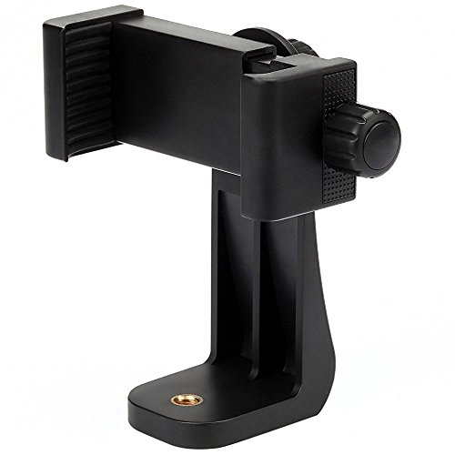 Vastar-Universal-Smartphone-Tripod-Adapter-Cell-Phone-Holder-Mount-Adapter-Fits-iPhone-Samsung-and-all-Phones-Rotates-Vertical-and-Horizontal-Adjustable-Clamp