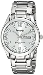 Armitron Men's 20/5006SVSV Day/Date Silver-Tone Dial and Bracelet Watch
