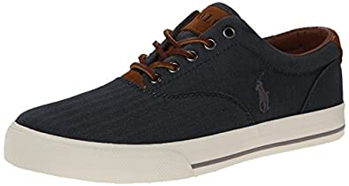 Polo Ralph Lauren Men's Vaughn Fashion Sneaker, Denim, 7 D US