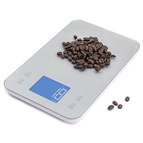 Greater Goods Nourish Digital Kitchen Food Scale + Timer - Ultra Slim Design and Easy to Clean Weighing Surface, Silver (Old Kitchen Scale compare prices)
