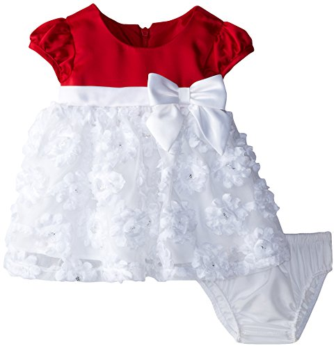 Bonnie Baby Baby-Girls Newborn To White Bonaz Dress, Red, 6-9 Months front-970501
