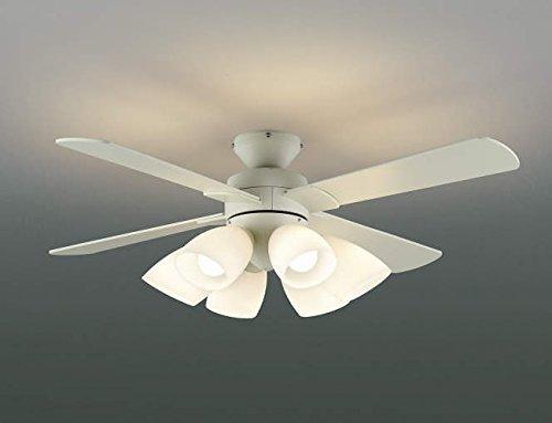 薄型 LED 明るさ8畳 大風量 リモコン 簡易取付 コイズミ 北欧 シーリングファン ライト 【KEE-006】