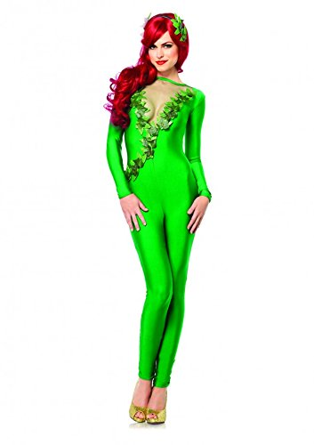Ivy Vixen,catsuit W/mesh Deep-v and Headband-85331